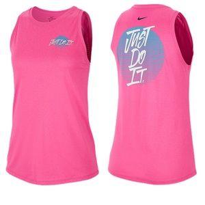 NWT Nike Legend Retro Pink Sleeveless Tank Top